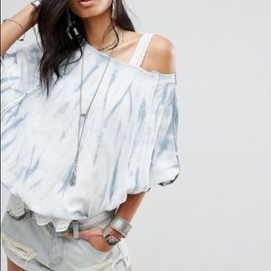 Free People East Meets West Tie Die Sweat